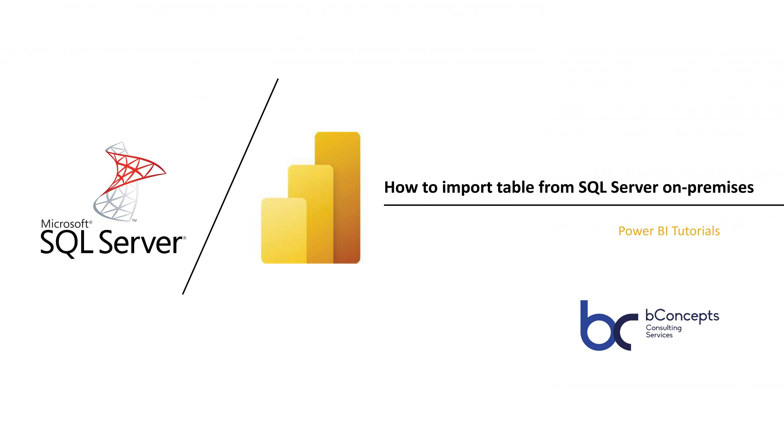 Import from SQLServer to Power BI